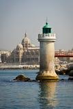 Cathédrale de phare et de Marseille Image libre de droits