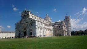 Cathédrale de Pise, tour penchée, ville de l'Italie, Pise, photos stock