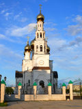 Cathédrale de Preobrazhenskiy dans les faisceaux du prochain s Photos libres de droits