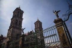 Cathédrale de Puebla Photographie stock libre de droits