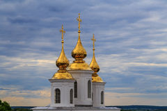Cathédrale de résurrection dans la ville russe antique Image stock