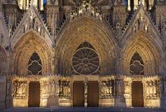 Cathédrale de Reims Photographie stock libre de droits