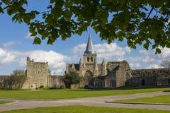 Cathédrale de Rochester dans Kent, R-U Photographie stock libre de droits