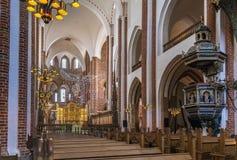 Cathédrale de Roskilde, Danemark photographie stock libre de droits