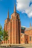 Cathédrale de Roskilde de l'église luthérienne du Danemark Roskilde denmark images stock