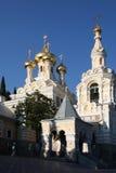 Cathédrale de rue Alexandre Nevski Photo libre de droits