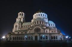 Cathédrale de rue Alexandre Nevsky à Sofia Images stock