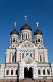 Cathédrale de rue Alexandre Nevsky Image libre de droits
