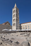 Cathédrale de rue Anastasia dans Zadar Photo libre de droits