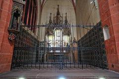 Cathédrale de rue Bartholomew de Francfort Photos stock