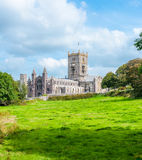 Cathédrale de rue Davids au Pays de Galles photos libres de droits