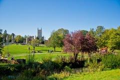 Cathédrale de rue Edmunds d'enfouissement, Angleterre Photos libres de droits