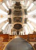 Cathédrale de rue Gallen Images libres de droits