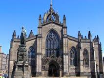 Cathédrale de rue Giles Images libres de droits