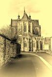 Cathédrale de rue Hubert en Belgique Images stock
