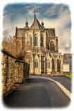 Cathédrale de rue Hubert en Belgique Image libre de droits