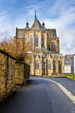 Cathédrale de rue Hubert en Belgique Image stock