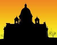 Cathédrale de rue Isaac à St Petersburg illustration de vecteur