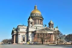 Cathédrale de rue Isaac à St Petersburg Photos libres de droits