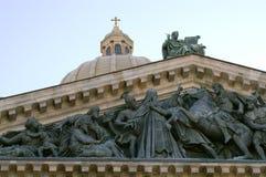 Cathédrale de rue Isaac Images libres de droits