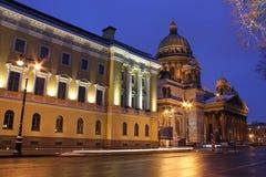 Cathédrale de rue Isaac, St Petersburg, Russie Photographie stock libre de droits