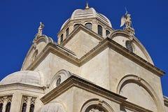 Cathédrale de rue Jacob, vieille ville de Sibenik, Croatie Photographie stock libre de droits