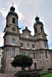 Cathédrale de rue James, Innsbruck, Autriche Images libres de droits