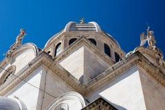 Cathédrale de rue James. Sibenik, Croatie. Image libre de droits