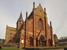 Cathédrale de rue Magnus, Kirkwall, îles d'Orkney Images stock