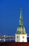 Cathédrale de rue Martin à Bratislava Image stock