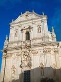 Cathédrale de rue Martin. Martina Franca. Apulia. Images stock
