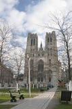 Cathédrale de rue Michel, Bruxelles, Belgique photographie stock libre de droits