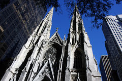 Cathédrale de rue Patrick Images libres de droits