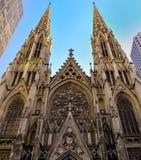 Cathédrale de rue Patricks Images libres de droits