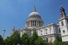 Cathédrale de rue Paul à Londres Photo libre de droits