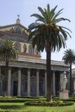 Cathédrale de rue Paul à Rome Image libre de droits