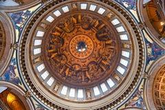 Cathédrale de rue Paul, Londres, R-U. Images libres de droits