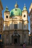 Cathédrale de rue Peter à Vienne photographie stock