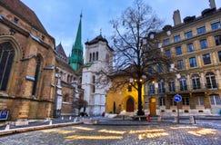 Cathédrale de rue Peter Photographie stock libre de droits
