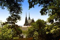 Cathédrale de rue Peter et Paul à Brno, République Tchèque Images stock