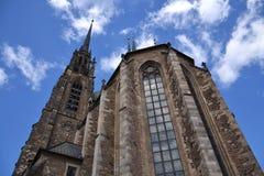 Cathédrale de rue Peter et Paul, Brno Photo stock