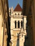 Cathédrale de rue Pierre, Genève Photo stock