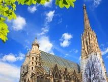 Cathédrale de rue Stephan à Vienne photo stock
