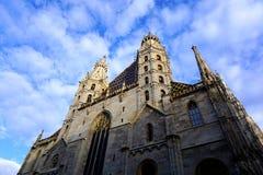 Cathédrale de rue Stephen à Vienne photos libres de droits