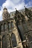 Cathédrale de rue Stephens à Vienne Images stock