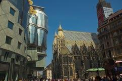 Cathédrale de rue Stephens, Vienne images libres de droits