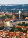 Cathédrale de rue Vitus à Prague images libres de droits