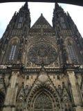 Cathédrale de rue Vitus à Prague, République Tchèque photographie stock libre de droits