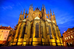 Cathédrale de rue Vitus à Prague, République Tchèque Photo stock