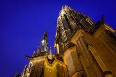 Cathédrale de rue Vitus à Prague, République Tchèque Photographie stock